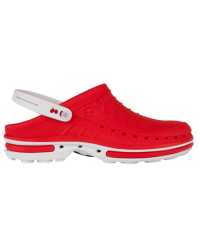 Wock Clog Medische klomp wit/rood